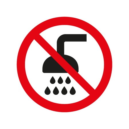 No shower sign on white background. Vector illustration