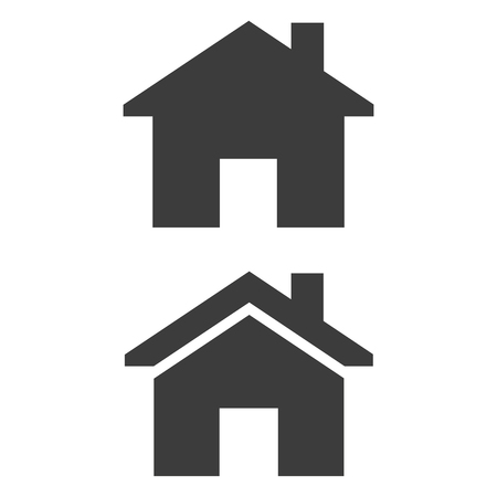 Home icon on white background. Vector illustration