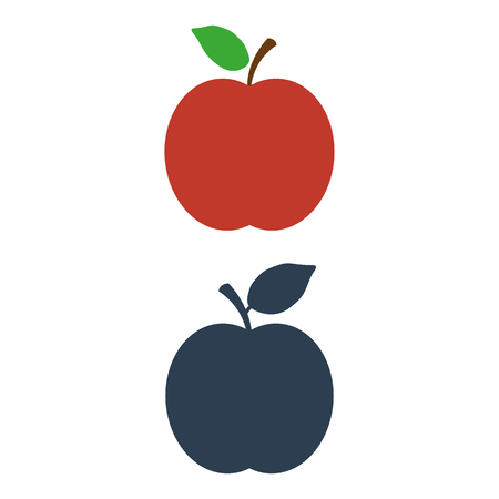 Apple Icon on white background. Vector illustration Illustration