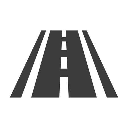 Road icon on white background. Vector illustration