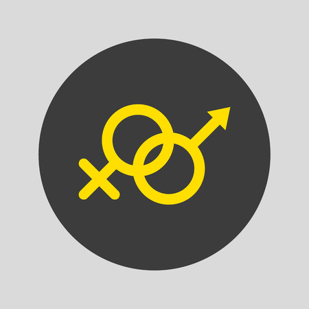 Sex icon on gray background. Vector illustration