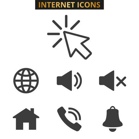 Web icons set on white background. Vector illustration