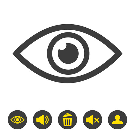 Eye icon on white background. Vector illustration