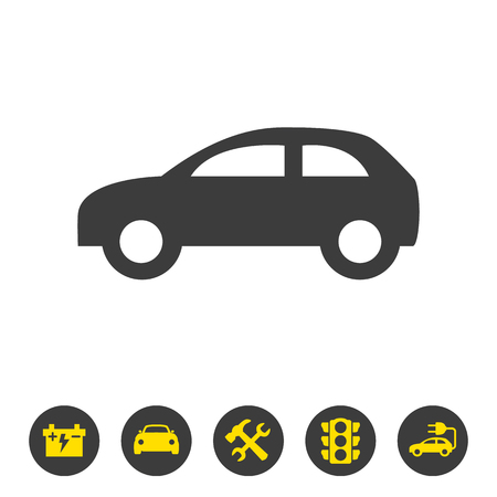 Car icon on white background. Vector illustration Illusztráció