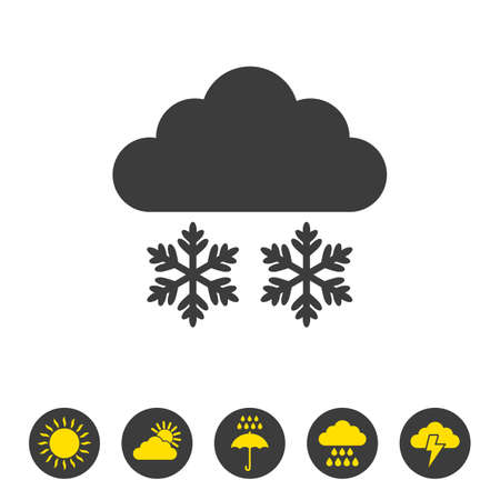 Snow icon on white background. Vector illustration Illusztráció