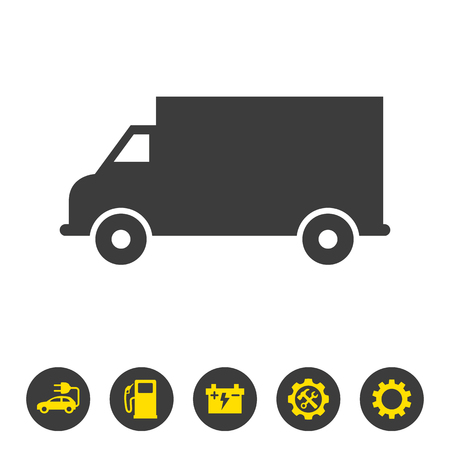 Delivery truck icon on white background. Vector illustration Illusztráció