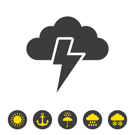 Storm icon on white background. Vector illustration