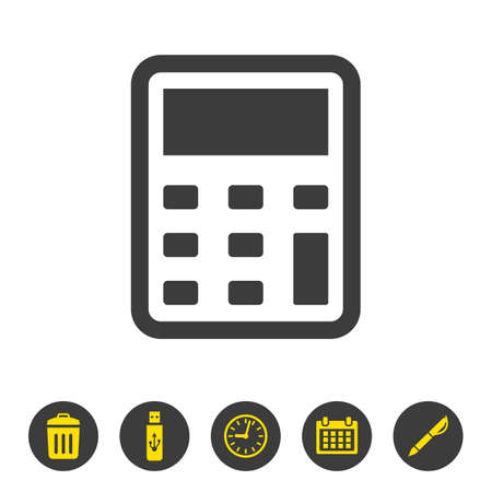 Calculator icon on white background. Vector illustration Illusztráció