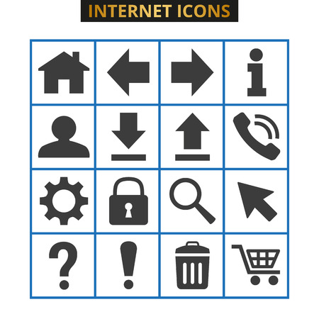 Web icons set on white background. Vector illustration