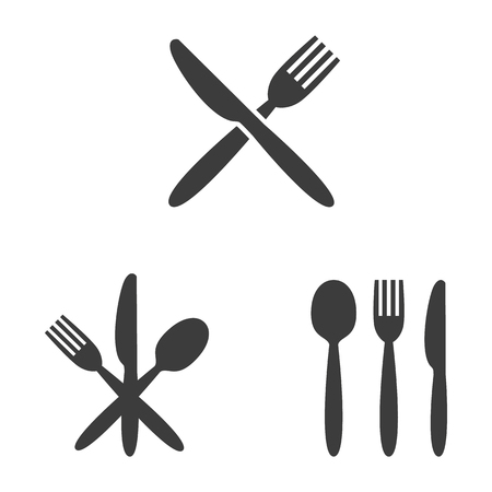 Set of cafe icons on white background. Vector illustration Illusztráció