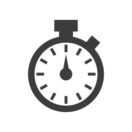 Stopwatch icon on white background. Vector illustration Illusztráció