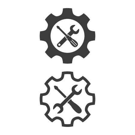Icônes d'outil de service sur fond blanc. Illustration vectorielle