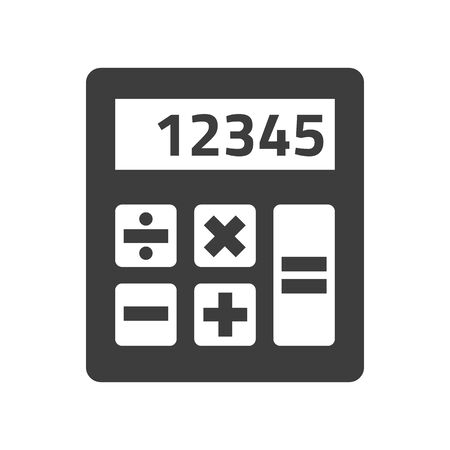Calculator icon on white background. Vector Illustration