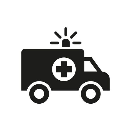 Ambulance icon on white background. Vector illustration Illusztráció