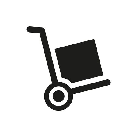 Handcart icon on white background. Vector illustration Illusztráció