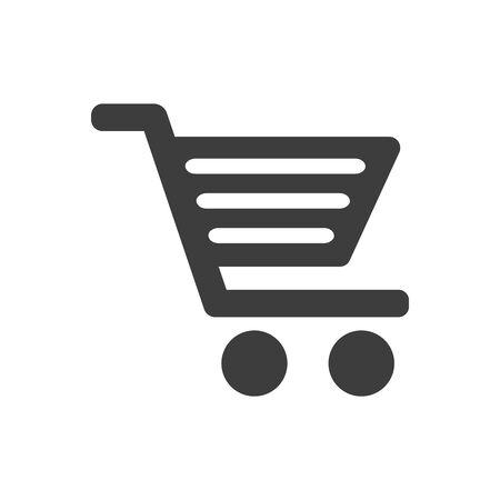 Shopping cart icon on white background. Vector illustration Illustration