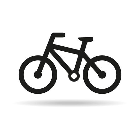 Bicycle icon on white background. Vector Illustration Illusztráció