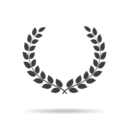 Laurel wreath icon on white background. Vector Illustration