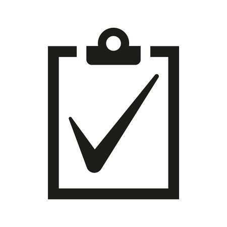 Checklist icon on white background. Vector illustration
