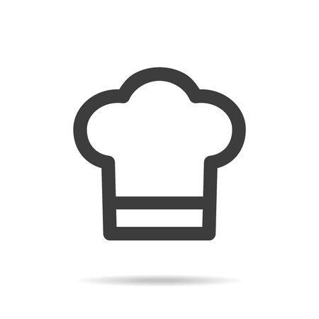 Chef icon on white background. Vector Illustration Illusztráció
