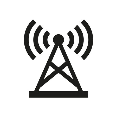 Antenna icon on white background. Vector illustration