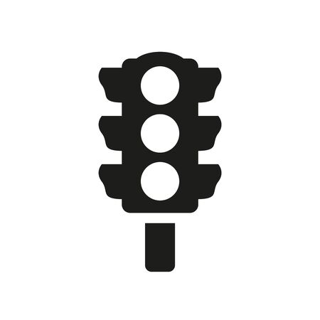 Traffic light Icon on white background. Vector illustration
