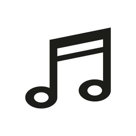 Music note icon on white background. Vector illustration