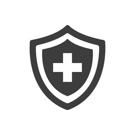 Medical insurance icon on white background. Vector illustration