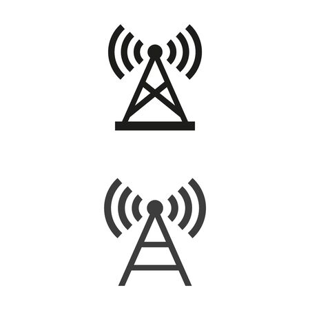Antenna icons on white background. Vector illustration