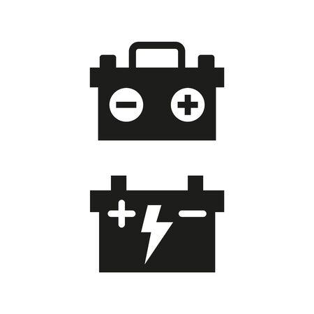 Car battery icons on white background. Vector illustration Illusztráció