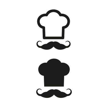 Chef icons on white background. Vector Illustration