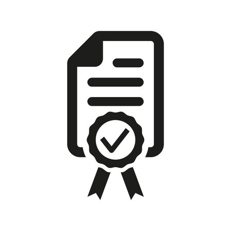 Certified or approved icon on white background. Vector illustration