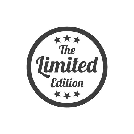 Limited edition badge on white background. Vector illustration