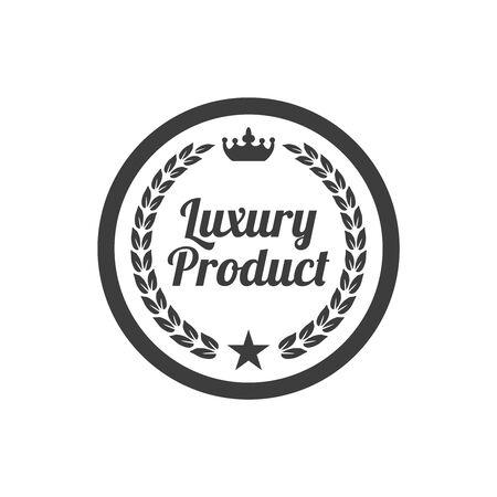 Luxury product label on white background. Vector illustration