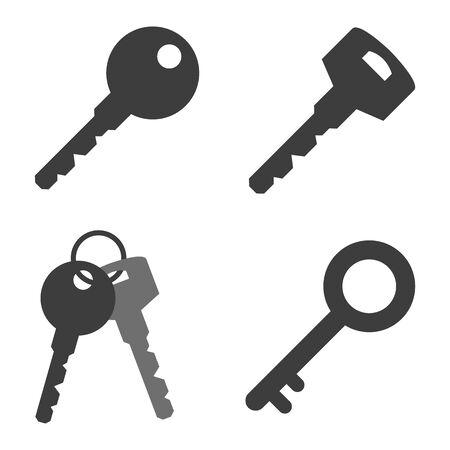 Key icons set on white background. Vector illustration Standard-Bild - 138349158