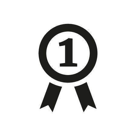 Award flat icon on white background. Vector illustration