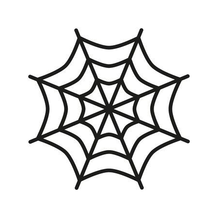 Spider web icon on white background. Vector illustration
