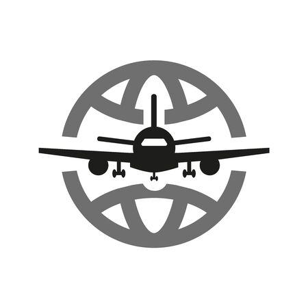 Travel the world icon on white background. Vector illustration