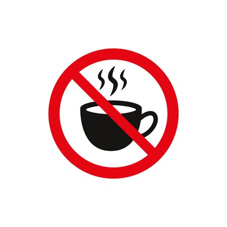 No coffee sign on white background. Vector illustration 일러스트