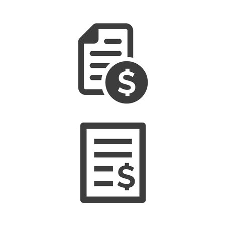 Bill payment icon on white background. Vector illustration