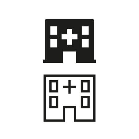 Icône de l'hôpital sur fond blanc. Illustration vectorielle Vecteurs