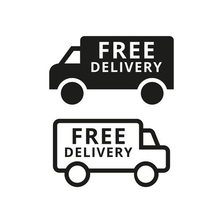 Free delivery icon on white background. Vector illustration Ilustração