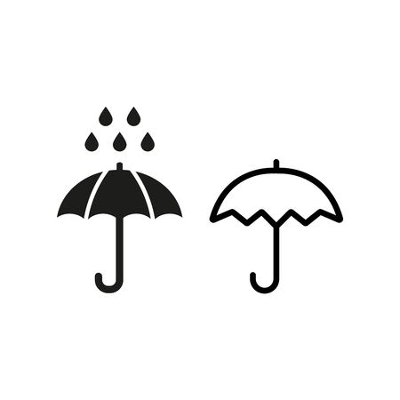 Umbrella icon on white background. Vector illustration Ilustração