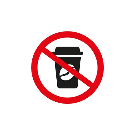 No coffee sign on white background. Vector illustration Ilustração