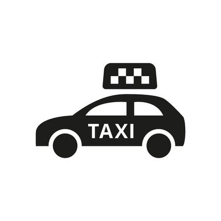 Taxi icon on white background. Vector Illustration Ilustração