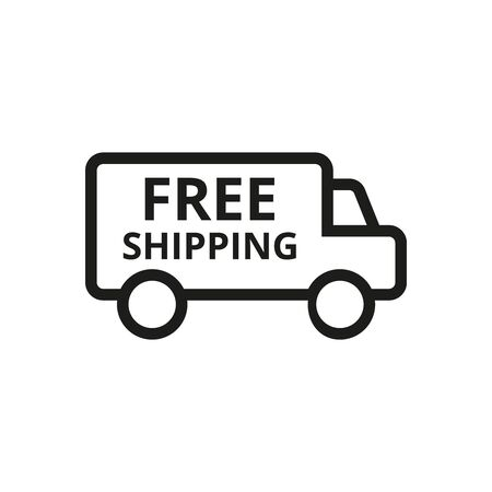 Free shipping icon on white background. Vector illustration