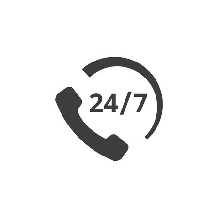 Call support icon on white background. Vector illustration