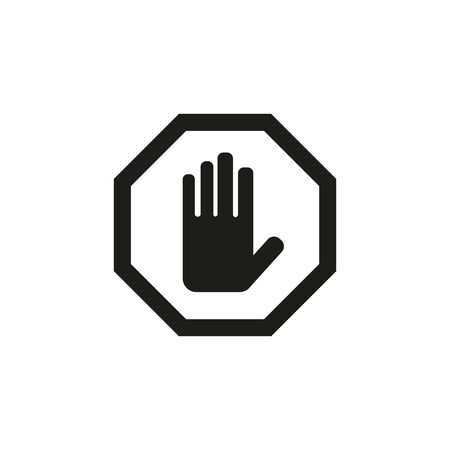 No entry sign icon on white background. Vector Illustration