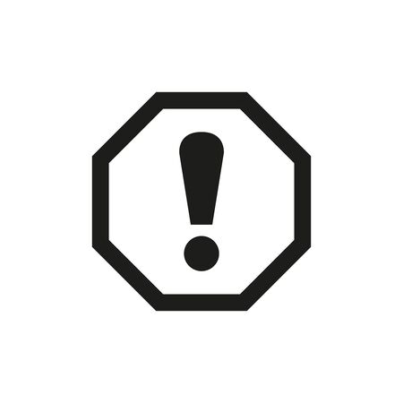 Attention sign icon on white background. Vector Illustration