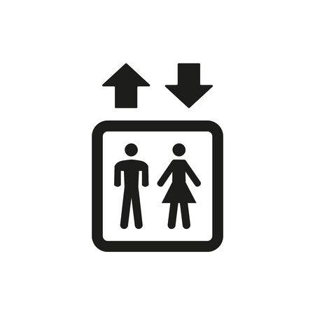 Elevator icon on white background. Vector Illustration Ilustração